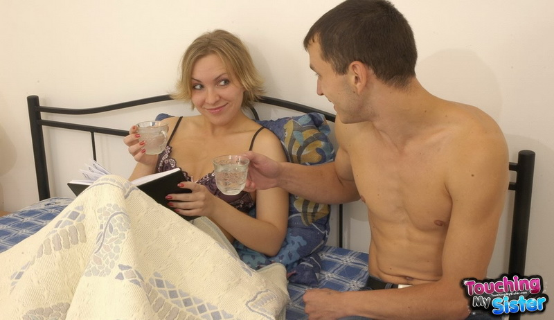 naked sister touching brother